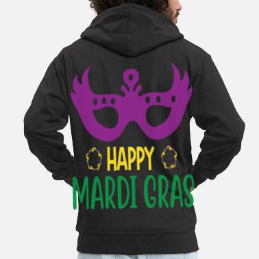 Panel Happy Mardi Gras - Men's Premium Zip Hoodie