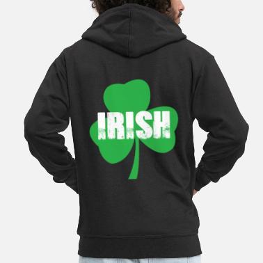4906213e Irish, Shamrock, Shamrock, St. Patrick's Day Party -. Men's Premium Zip  Hoodie
