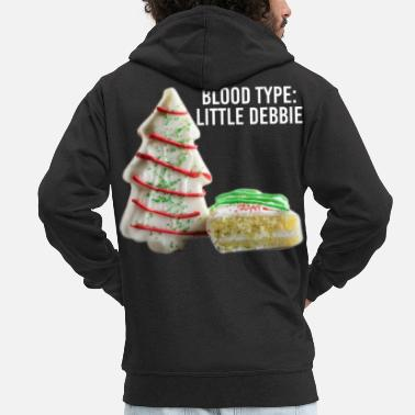 Fitness Blood Type Little Debbie Chocolate Cupcakes Funny - Felpa con zip premium uomo