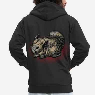 Chinchilla chinchilla - Men's Premium Zip Hoodie