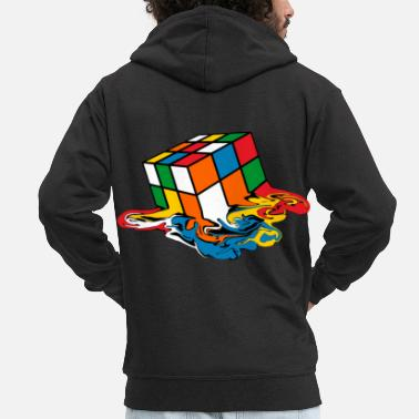Cube Melting Cube 90s toy - Men's Premium Zip Hoodie