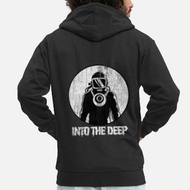 Depth Diving in the depth - Men's Premium Zip Hoodie