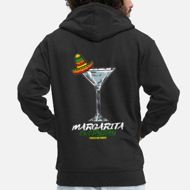Country cinco de mayo - 5 de mayo Margarita - Men's Premium Zip Hoodie