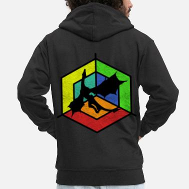 Mythical mythical creatures - Men's Premium Zip Hoodie