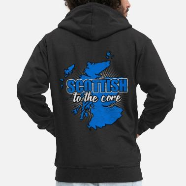 National Colours Scotland nation Edinburgh nation nationality - Men's Premium Zip Hoodie