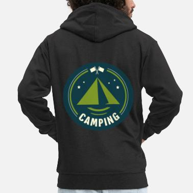 Tent Tent tents campers - Men's Premium Zip Hoodie