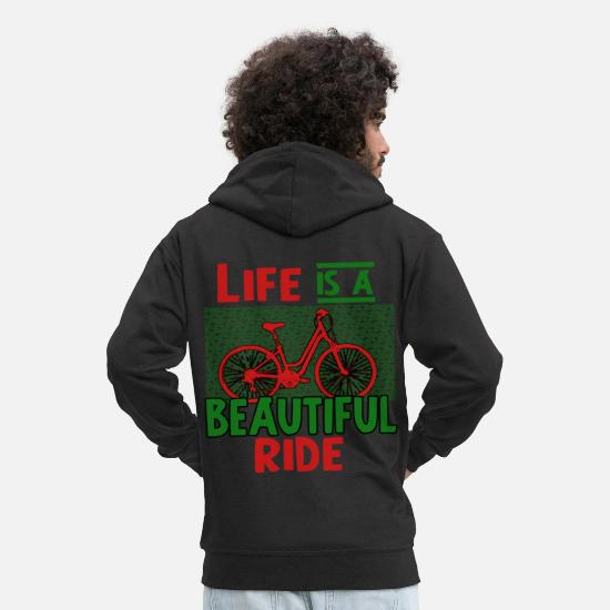 Bike Messenger Hoodies & Sweatshirts - bicycle - Men's Premium Zip Hoodie black