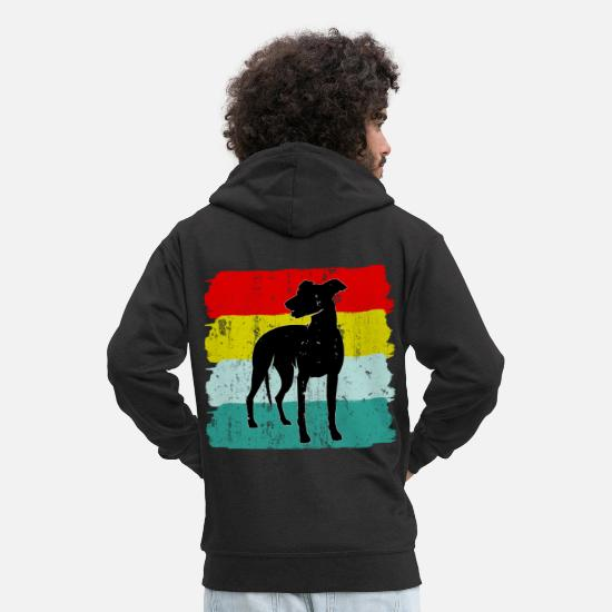 Dog Owner Hoodies & Sweatshirts - Greyhound dog sport - Men's Premium Zip Hoodie black