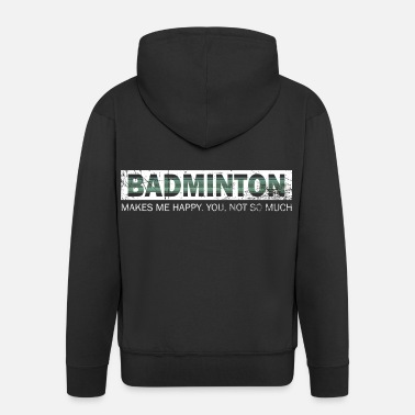 Brother Badminton Shuttlecock Happy Springs Gift - Men's Premium Hooded Jacket