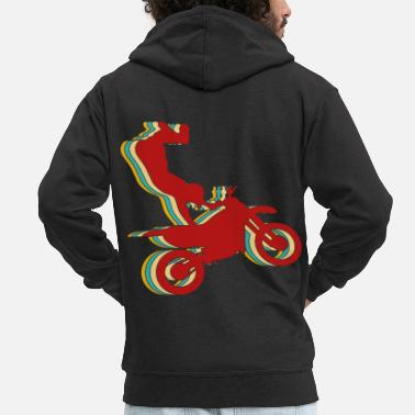 Dirt Bike Dirt Bike - Men's Premium Zip Hoodie