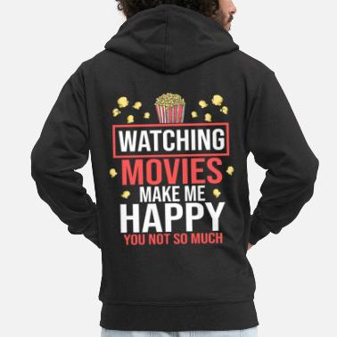 Cinema Movie Movies Cinema Cinema Popcorn Cinema Shows - Men's Premium Zip Hoodie
