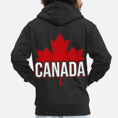 Leaf Canadian maple leaf Canada Canada flag - Men's Premium Zip Hoodie