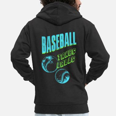 Baseball Players Baseball player baseball baseball player - Men's Premium Zip Hoodie