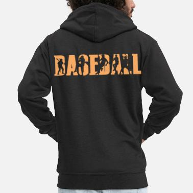 Baseball Players Baseball baseball player baseball player - Men's Premium Zip Hoodie