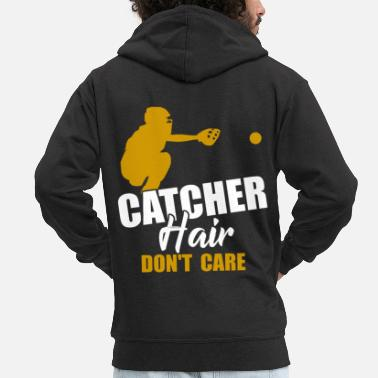 Softball Catcher Softball catcher softball player - Men's Premium Zip Hoodie