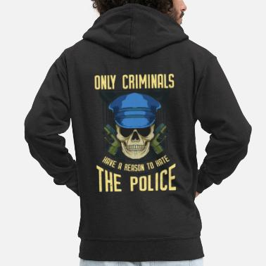 Chief Of Police Policeman Policewoman Police Costume Police Chief - Men's Premium Zip Hoodie