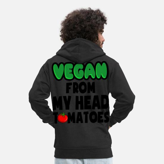 Vegan Hoodies & Sweatshirts - Vegan - Men's Premium Zip Hoodie black