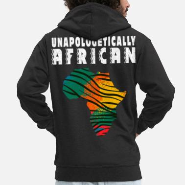Civil Rights unapologetically african - Men's Premium Zip Hoodie