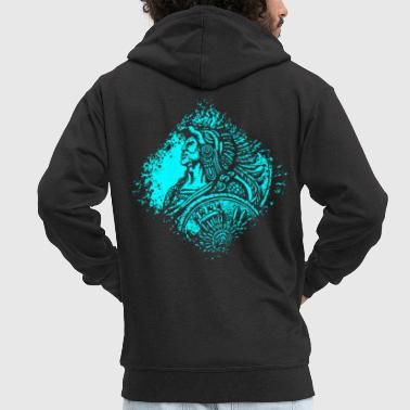 Native American Native American feather ornaments Native chief - Men's Premium Hooded Jacket