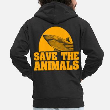 Animal Shark Shark Animal - Men's Premium Zip Hoodie