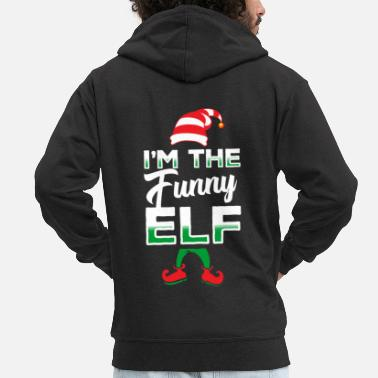 Elf Elf elf Christmas - Men's Premium Zip Hoodie