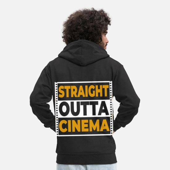 Actor Hoodies & Sweatshirts - Cinema movie Hollywood - Men's Premium Zip Hoodie black