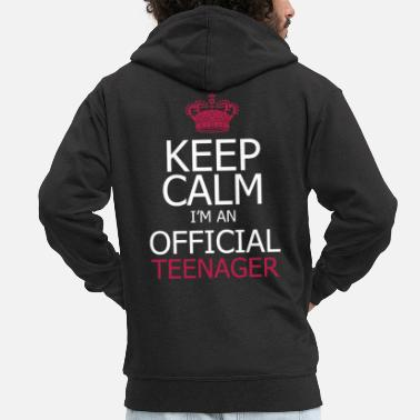 Keep Calm Keep Calm Birthday Keep Calm I'm A Official - Felpa con zip premium uomo