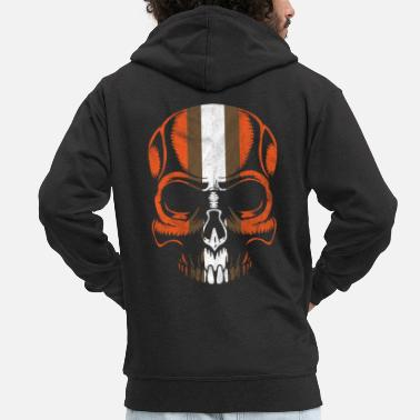 Idea Awesome Skull Face Skeleton Halloween Gift - Men's Premium Zip Hoodie