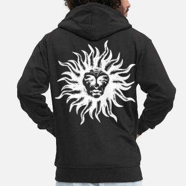 Spiritual sun lion spiritual hippie alternative gift - Men's Premium Zip Hoodie