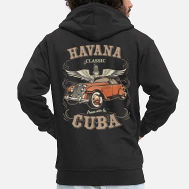 Hot Rod Havana Cuba Classic Car Racing Street Racing Hot - Men's Premium Hooded Jacket