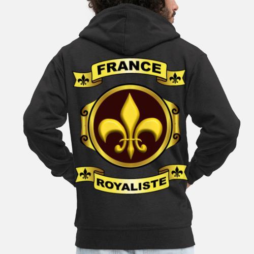34f34e53fe21a fleur de lys france Veste à capuche premium Homme   Spreadshirt