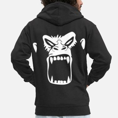 Gorilla gorilla - Men's Premium Hooded Jacket
