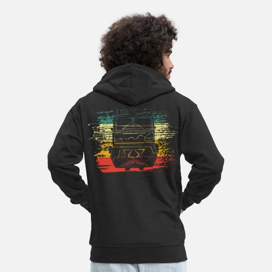 Train Driver Hoodies & Sweatshirts - train - Men's Premium Zip Hoodie black
