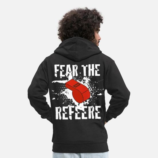 Gift Idea Hoodies & Sweatshirts - Referee referee - Men's Premium Zip Hoodie black