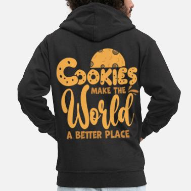 Bold Cookie biscuit - Men's Premium Zip Hoodie