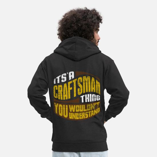 Craft Hoodies & Sweatshirts - craftsman - Men's Premium Zip Hoodie black