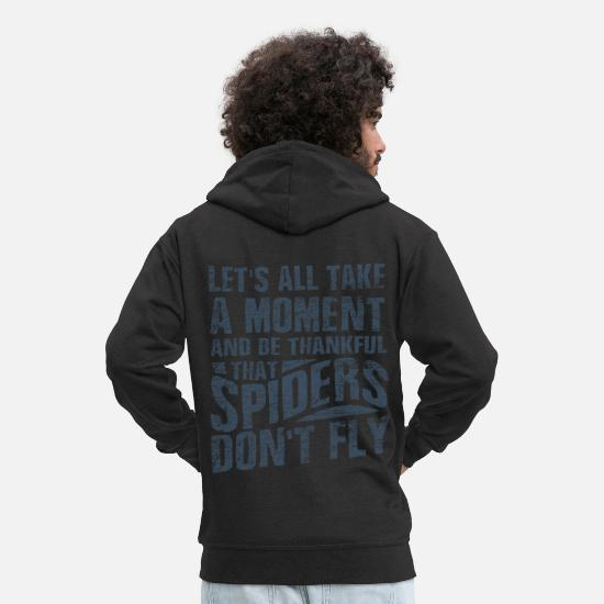 Cobweb Hoodies & Sweatshirts - spider - Men's Premium Zip Hoodie black
