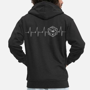 Rpg Heartbeat RPG Dice RPG white - Men's Premium Hooded Jacket