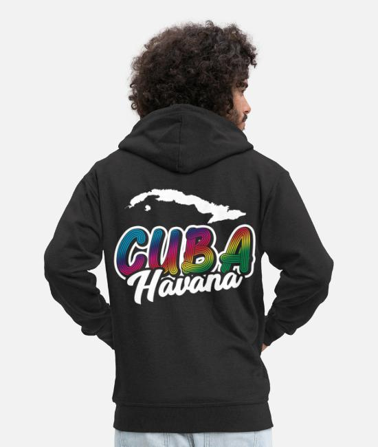Birthday Hoodies & Sweatshirts - Cuba - Men's Premium Zip Hoodie black