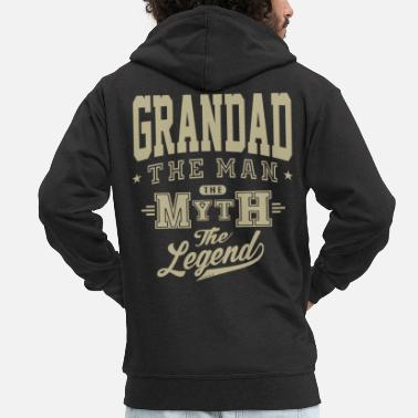 Grandad Grandad The Legend - Men's Premium Zip Hoodie