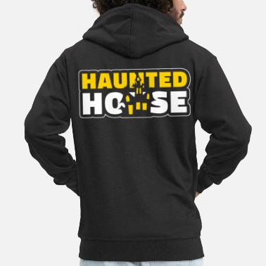 House Haunted House Haunted House Haunted House Halloween - Felpa con zip Premium da uomo