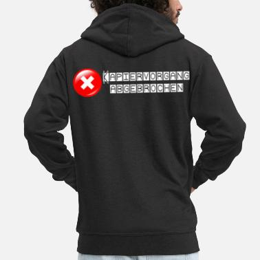 Ultras cool error message capping aborted - Men's Premium Zip Hoodie
