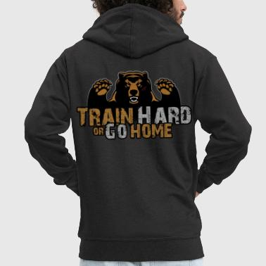 Training Bear - Men's Premium Hooded Jacket