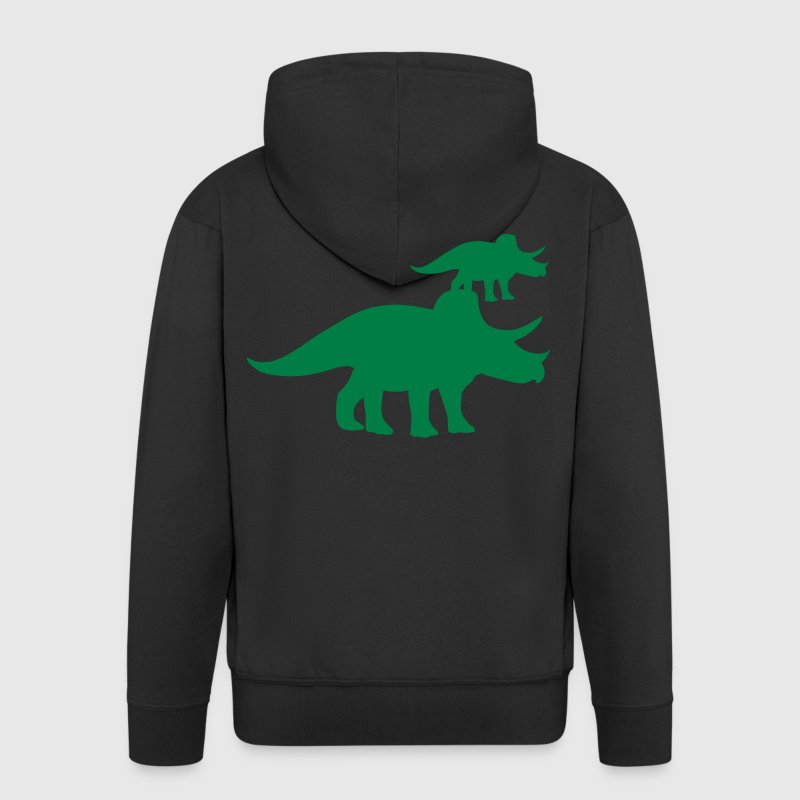 Triceratops Dinosaur - Men's Premium Hooded Jacket
