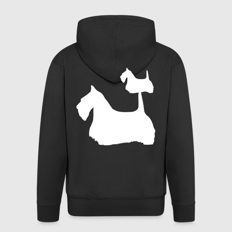 Scottish Terrier - Scottie Dog - Men's Premium Hooded Jacket