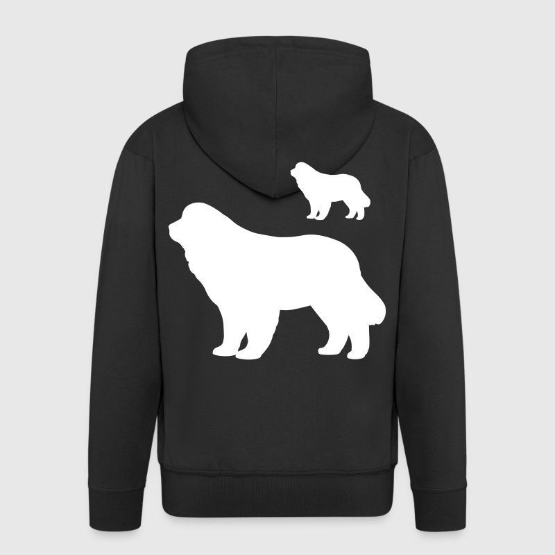 Newfoundland Dog - Men's Premium Hooded Jacket