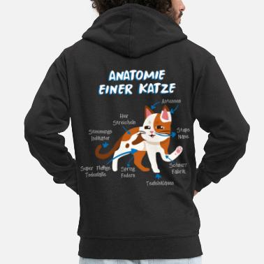 Persians Anatomy of a cat cat lover animal gift - Men's Premium Zip Hoodie