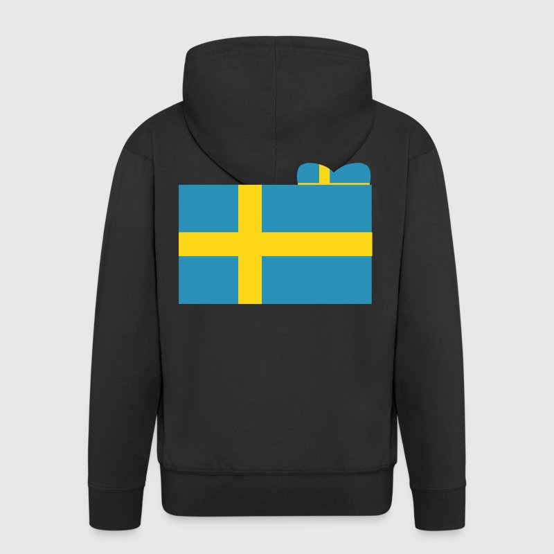 Swedish Flag - Men's Premium Hooded Jacket