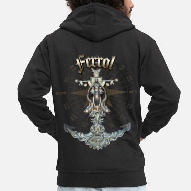 Ferrol Anchor Nautical Sailing Boat Summer - Men's Premium Zip Hoodie