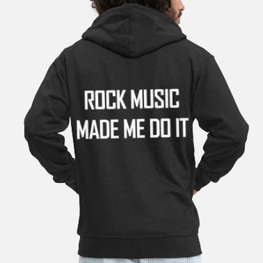 Rock Music Rock Music. Gifts for Rock Singers & Fans.Musician - Men's Premium Hooded Jacket